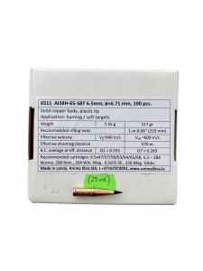 """Bullets Anima libra 6.5mm .264"""" 117 gr SBT (25 pcs.)"""