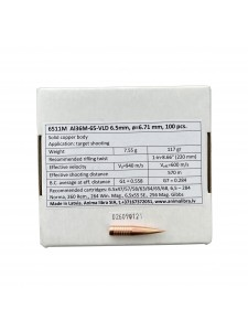 "Bullets Anima libra 6.5mm .264"" 117 gr VLD"