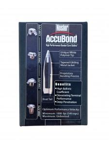 """Bullets Nosler 30 cal .308"""" 180 gr AccuBond"""